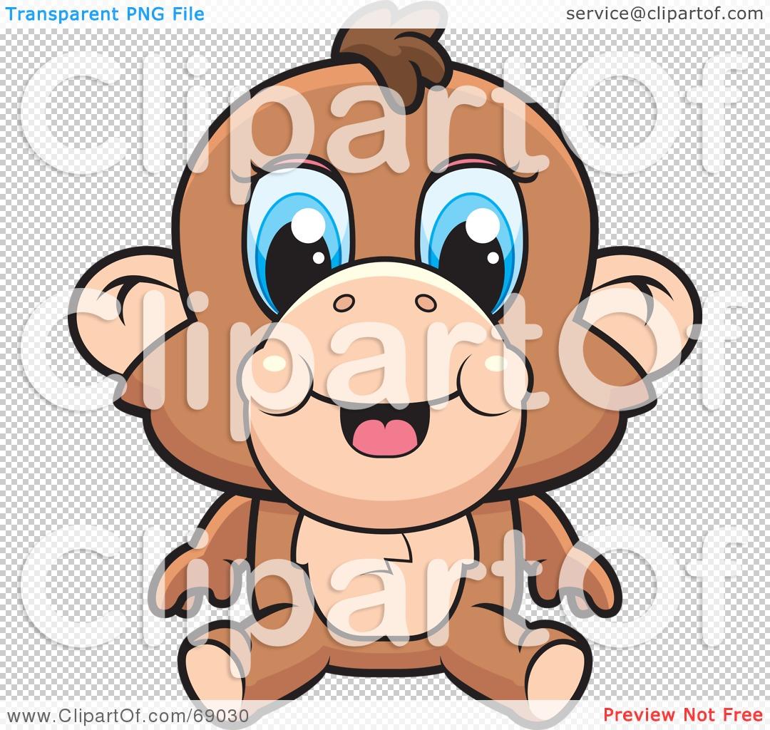 Cute Cartoon Monkey Drawing