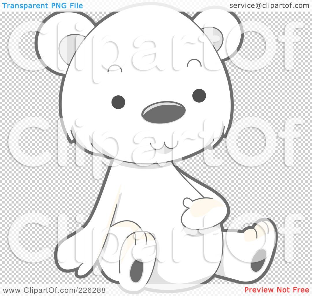 Royalty-Free (RF) Clipart Illustration of a Cute Baby Polar Bear ...