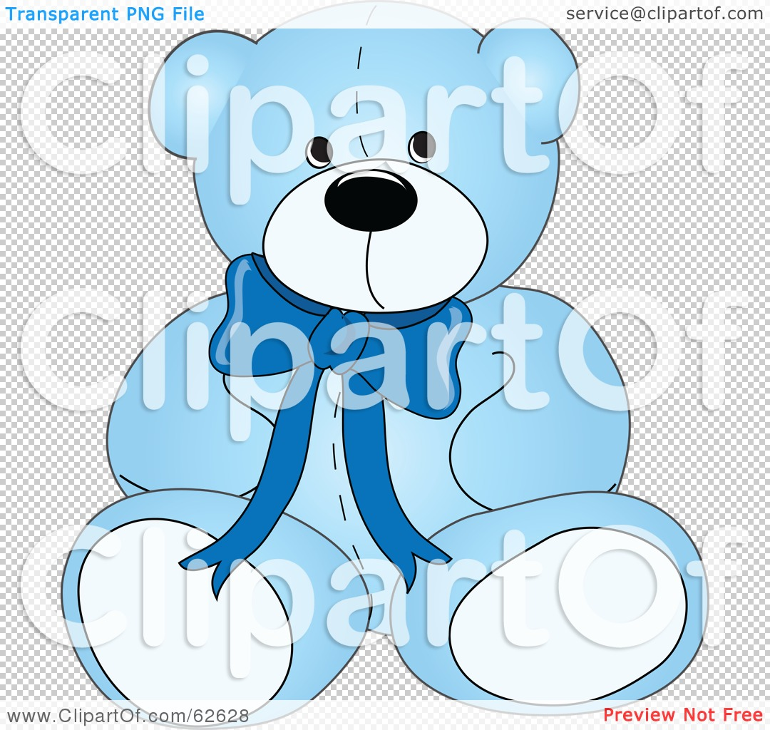 Royalty-Free (RF) Clipart Illustration of a Cute Blue Teddy Bear ...