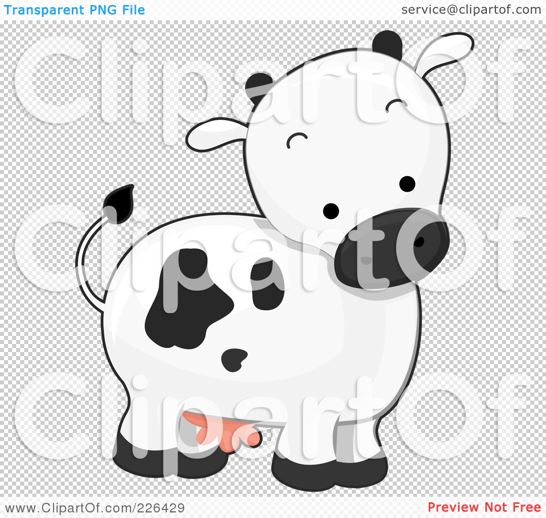 Royalty-Free (RF) Clipart Illustration of a Cute Cow by BNP Design ...