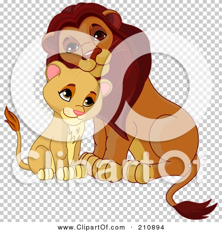 Royalty-Free (RF) Clipart Illustration of a Cute Cub Cuddling With ...