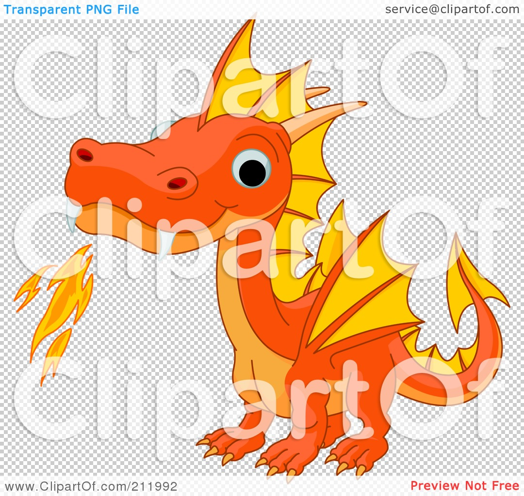 royalty free rf clipart illustration of a cute orange baby