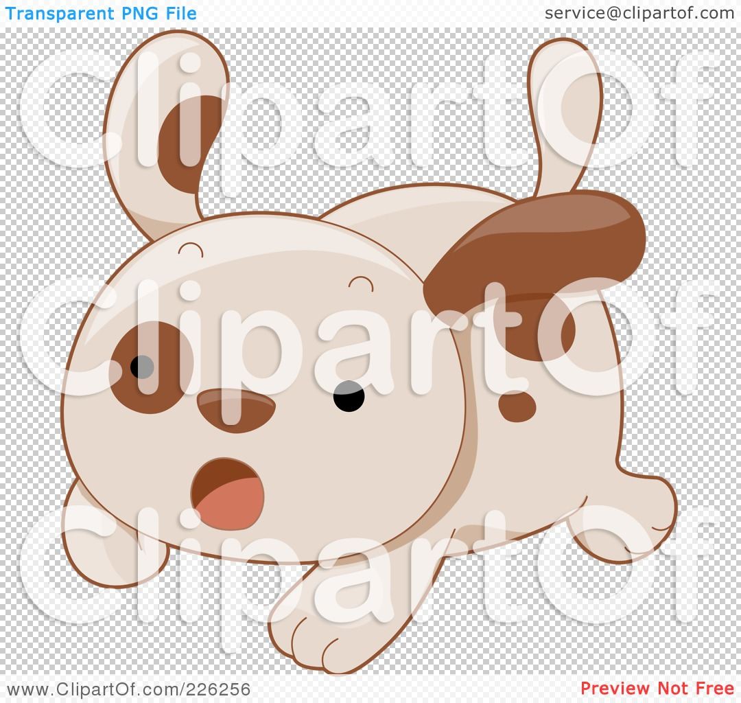 -Free (RF) Clipart Illustration of a Cute Puppy Dog Running Scared ...