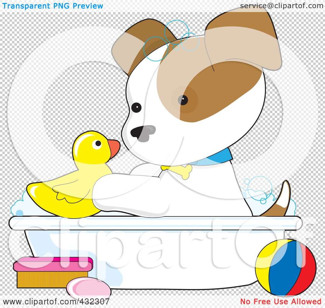 Royalty free rf clipart illustration of a cute puppy for R f bathrooms and kitchens