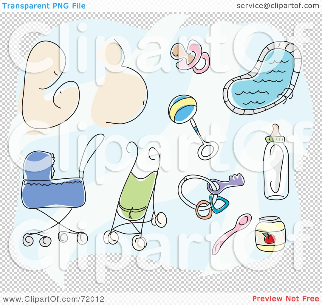 Royalty Free RF Clipart Illustration Of A Digital Collage Of A Mother Pregnant Belly Baby Toys Pacifier Strollers Food And Bottle 102472012 The Teen Commandments Play / Pause