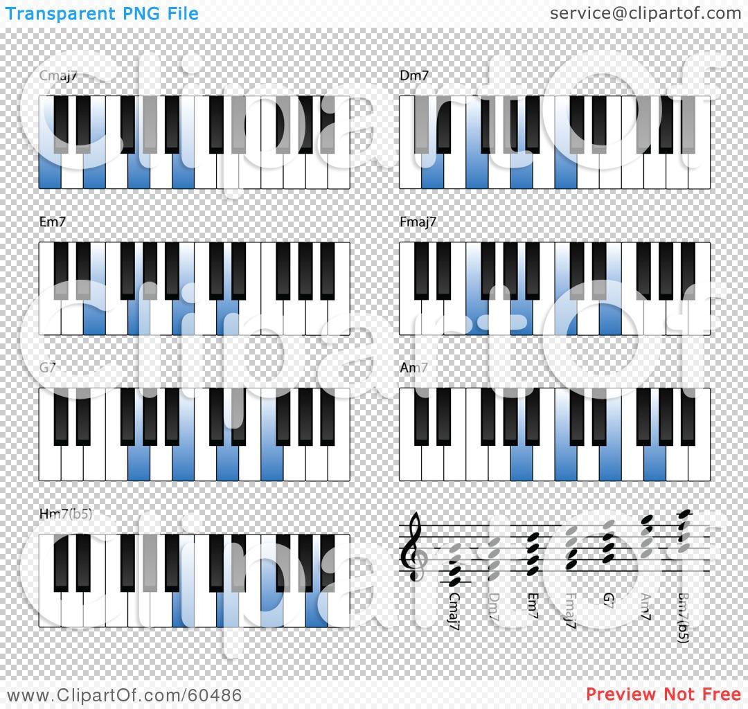 Blank Piano Keys