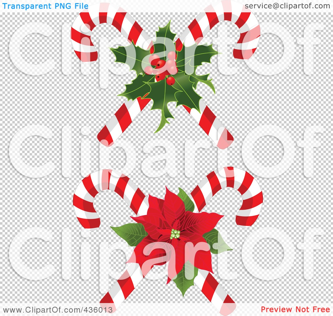 Candy Cane Transparent Christmas candy canes with