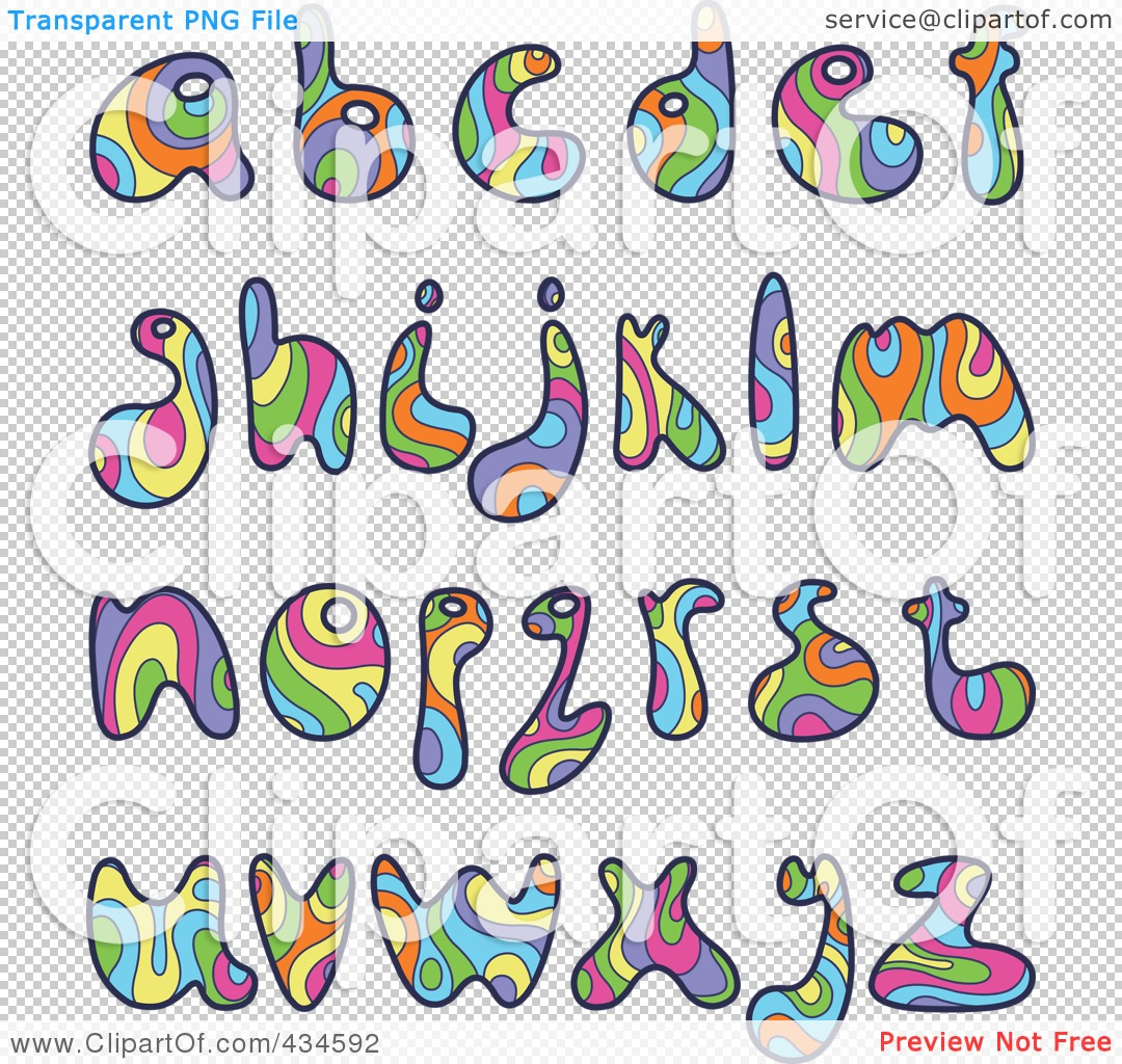 PNG File Has A Psychedelic Letters