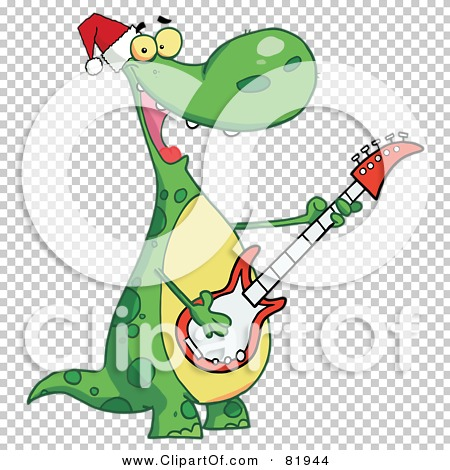 Royalty-Free (RF) Clipart Illustration of a Dinosaur Wearing A ...