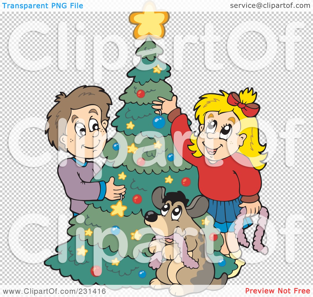 Royalty-Free (RF) Clipart Illustration of a Dog Watching A Brother ...