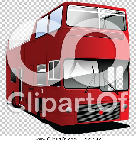 Royalty-Free (RF) Clipart Illustration of a Double Decker London ...