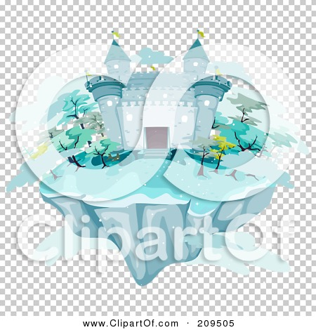 Royalty-Free (RF) Clipart Illustration of a Floating Island With ...