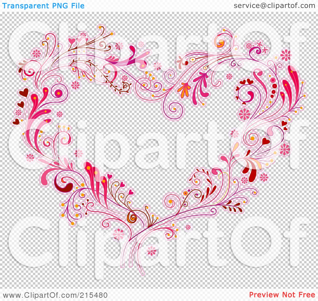 Heart Swirl Design Clip Art Royalty-free clipart picture