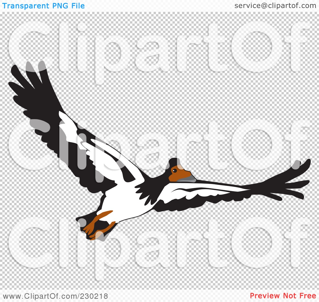 Royalty-Free (RF) Clipart Illustration of a Flying Goose by Dennis ...