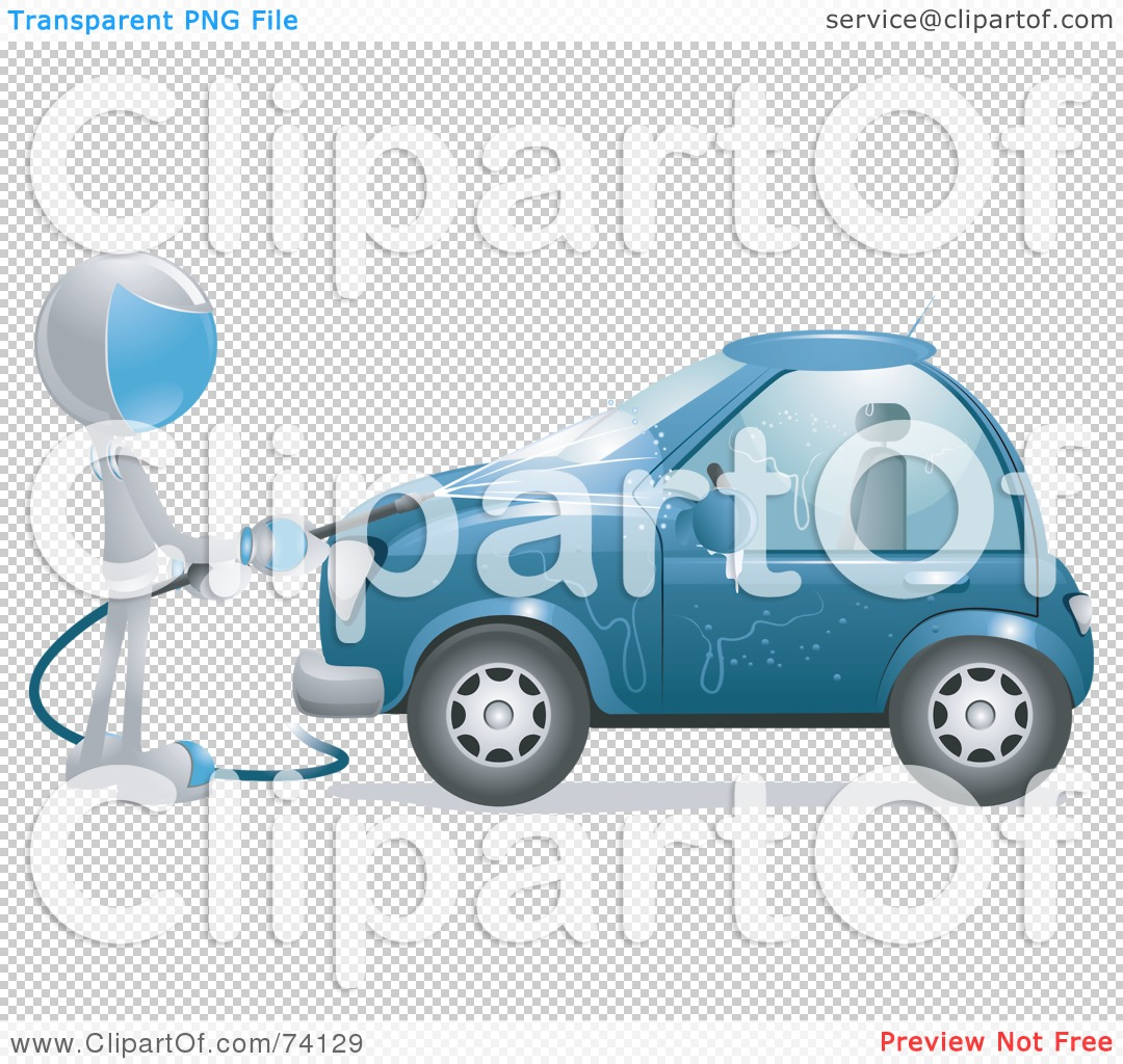 Royalty-Free (RF) Clipart Illustration of a Future Man Washing A ...