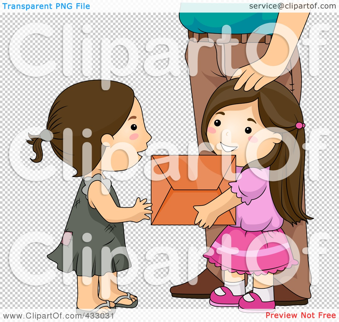 Royalty Free Rf Clipart Illustration Of A Girl Giving A
