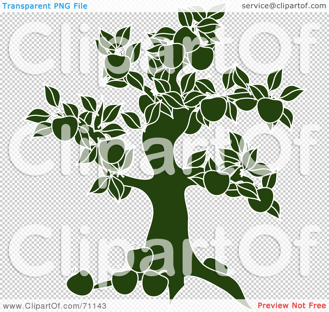 Royalty-Free (RF) Clipart Illustration of a Green Apple Tree ...