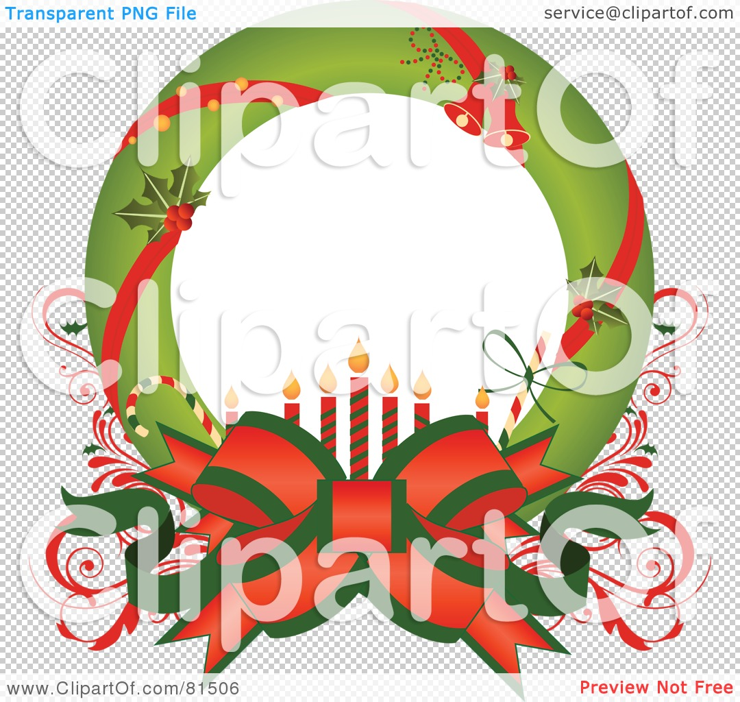 Christmas Wreath Clip Art Png Royalty-free clipart picture