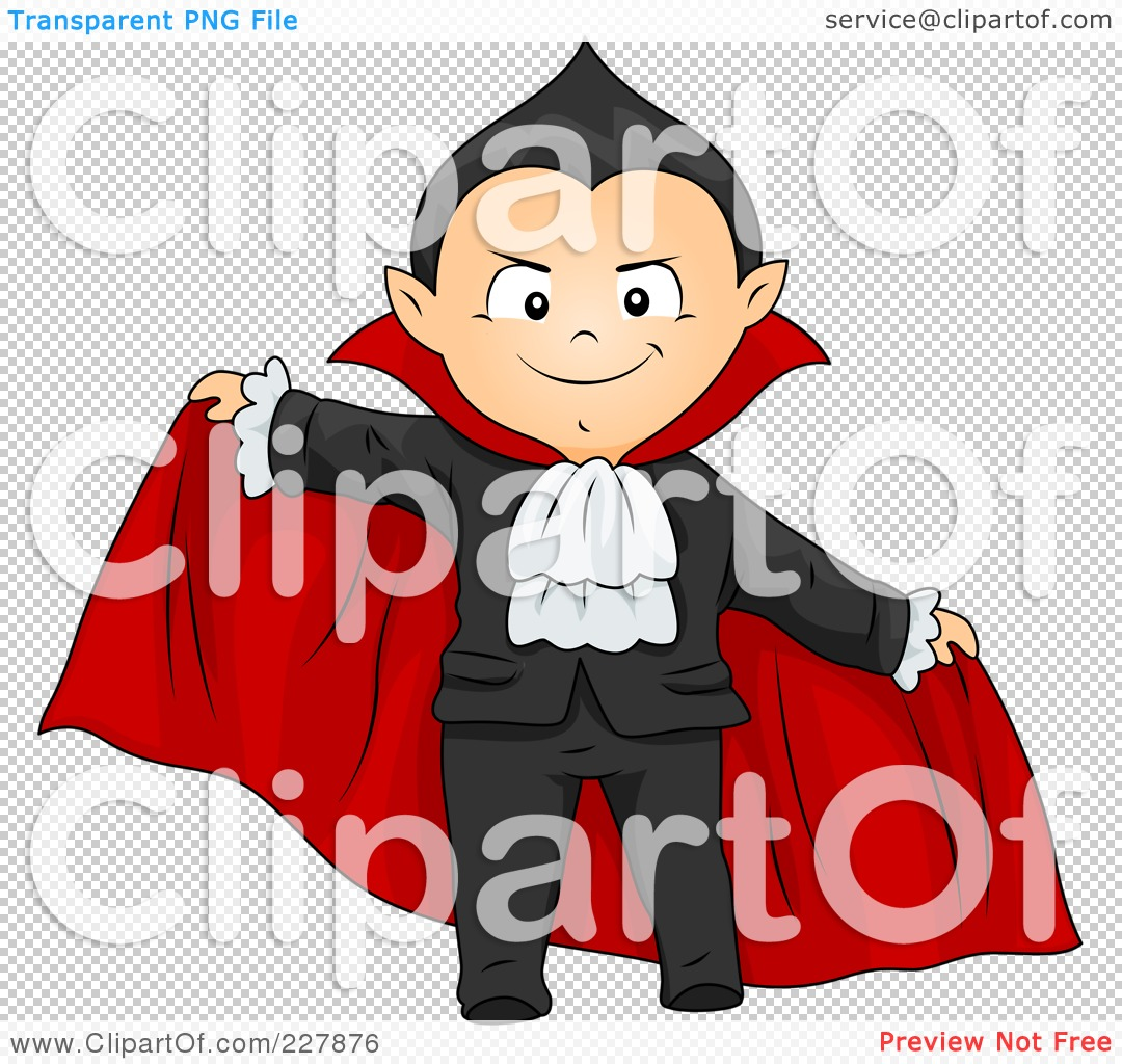 Royalty-Free (RF) Clipart Illustration of a Halloween Boy In A ...