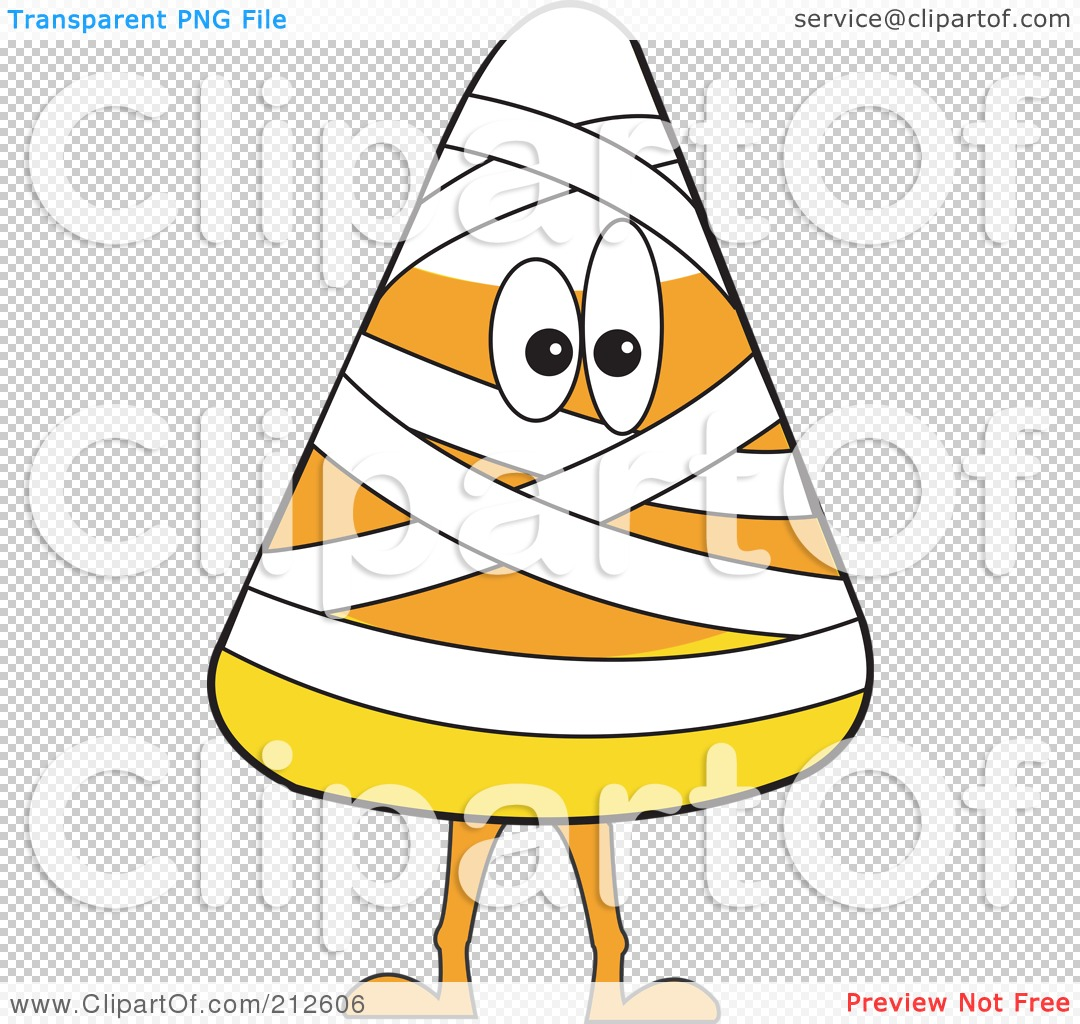 Royalty  Free RF Clipart  Illustration  Of A Halloween  Candy  Corn  In A Mummy  Costume