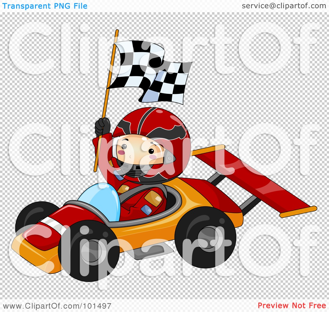 Royalty-Free (RF) Clipart Illustration of a Happy Boy Holding A ...