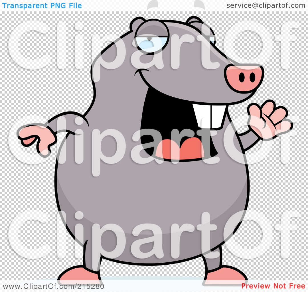 Royalty-Free (RF) Clipart Illustration of a Happy Mole Waving by ...
