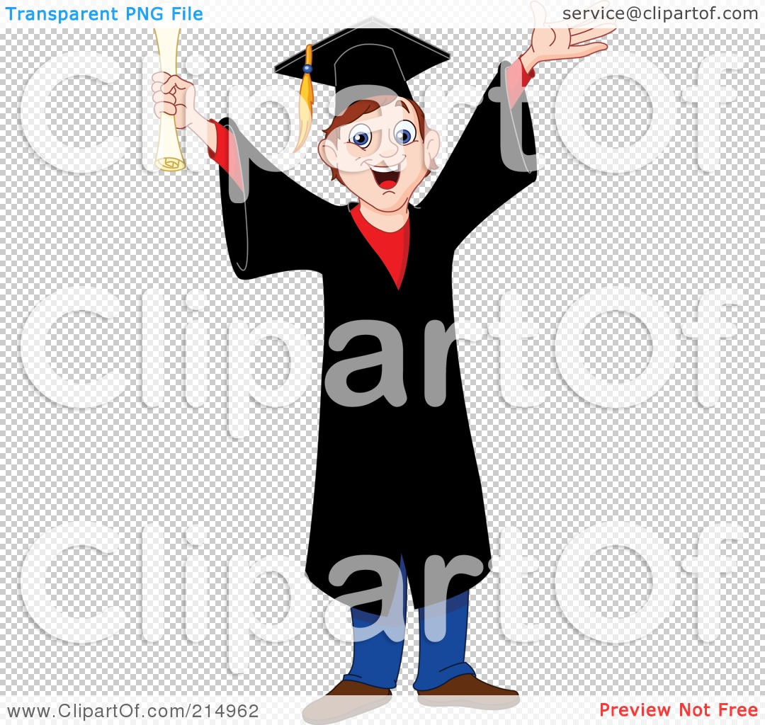 Royalty-Free (RF) Clipart Illustration of a Happy Young Graduating ...