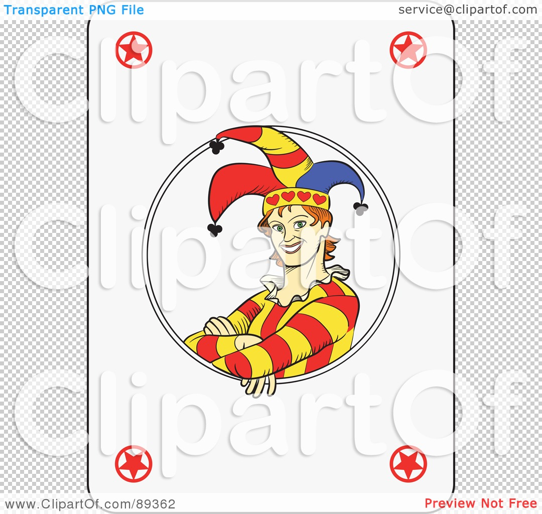 Royalty Free Rf Clipart Illustration Of A Joker Playing Card Design Version 2 By Frisko 89362