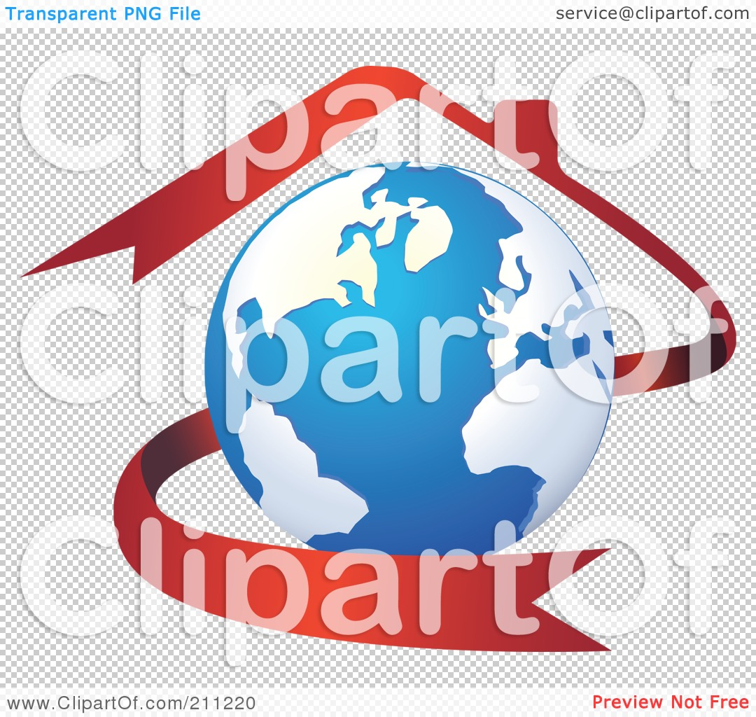 Royalty-Free (RF) Clipart Illustration of a Logo Design Of A Globe ...