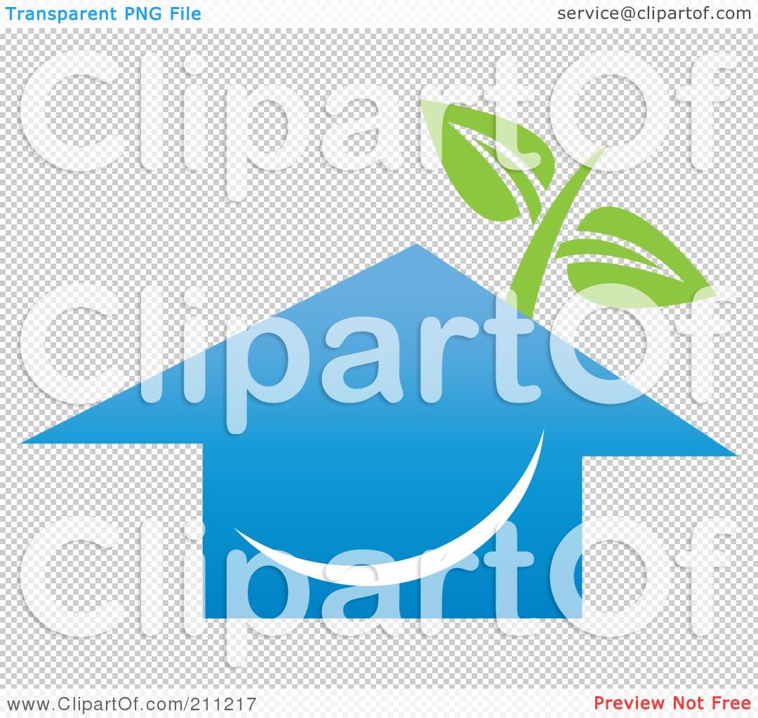 Blue House Clip Art