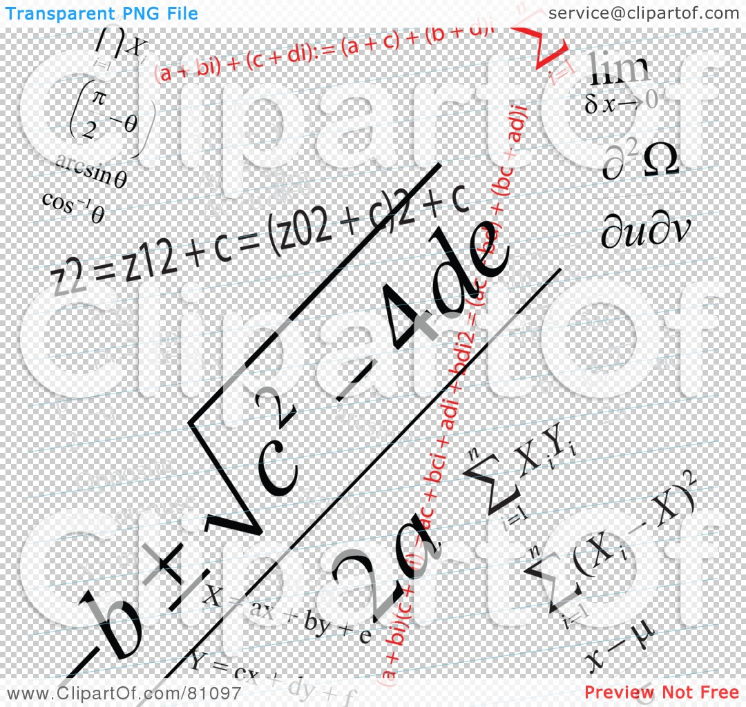 Royalty Free Rf Clipart Illustration Of A Math Problem Background