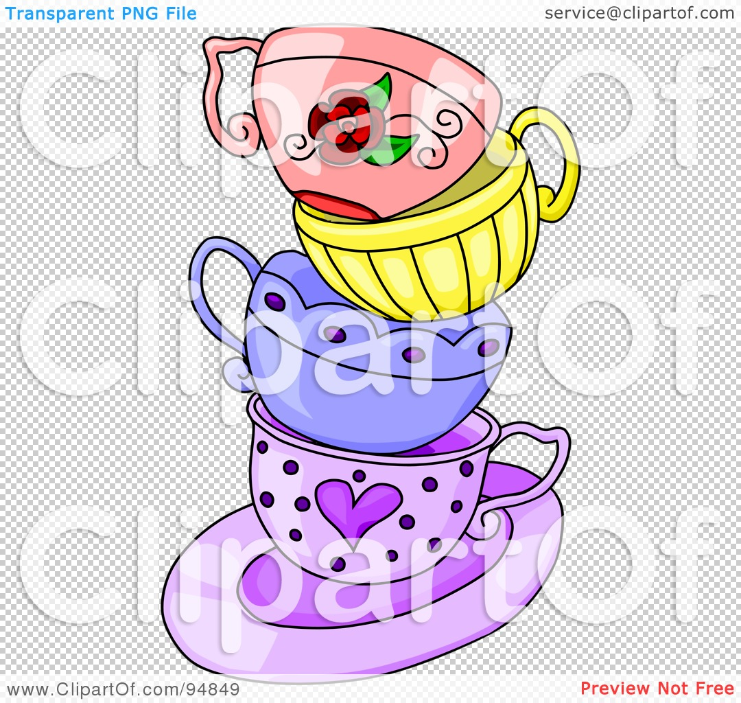 Royalty Free Rf Clipart Illustration Of A Messy Stack Of