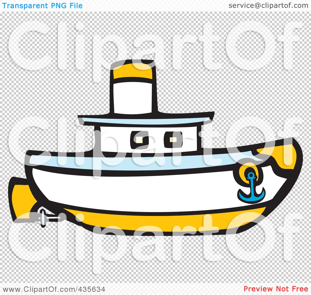 Royalty-Free (RF) Clipart Illustration of a Nautical Boat by ...