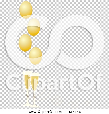 transparent new year border