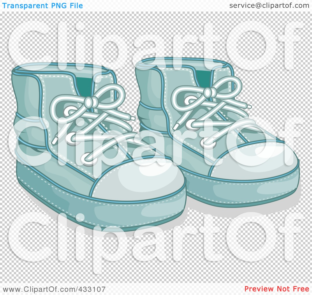 Royalty-Free (RF) Clipart Illustration of a Pair Of Blue Boy s Baby ... 02ded08eba