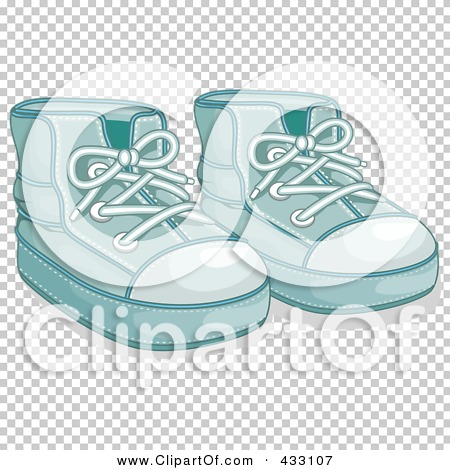 Royalty-Free (RF) Clipart Illustration of a Pair Of Blue Boy s Baby Shoes -  1 by BNP Design Studio  433107 03687790d9