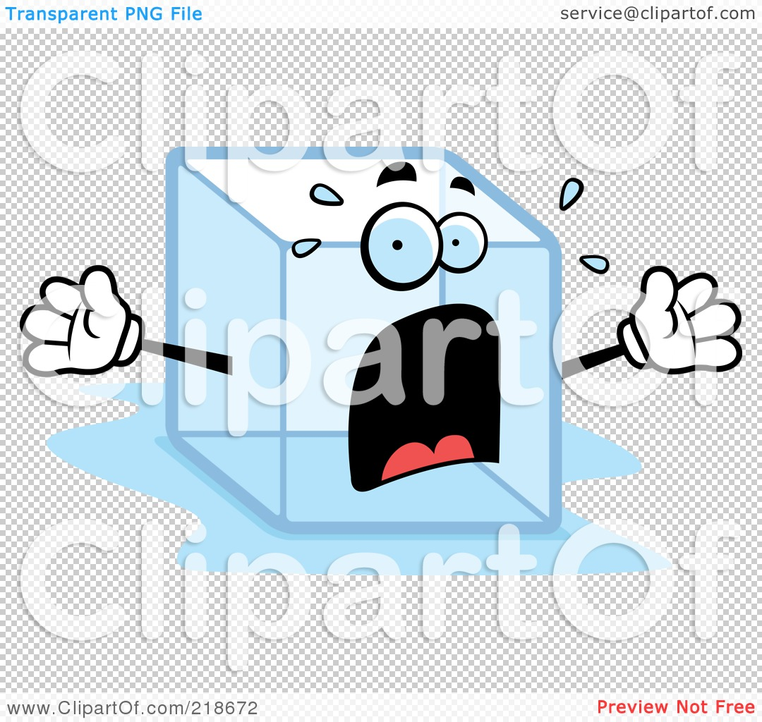 Royalty-Free (RF) Clipart Illustration of a Panicked Ice Cube ...
