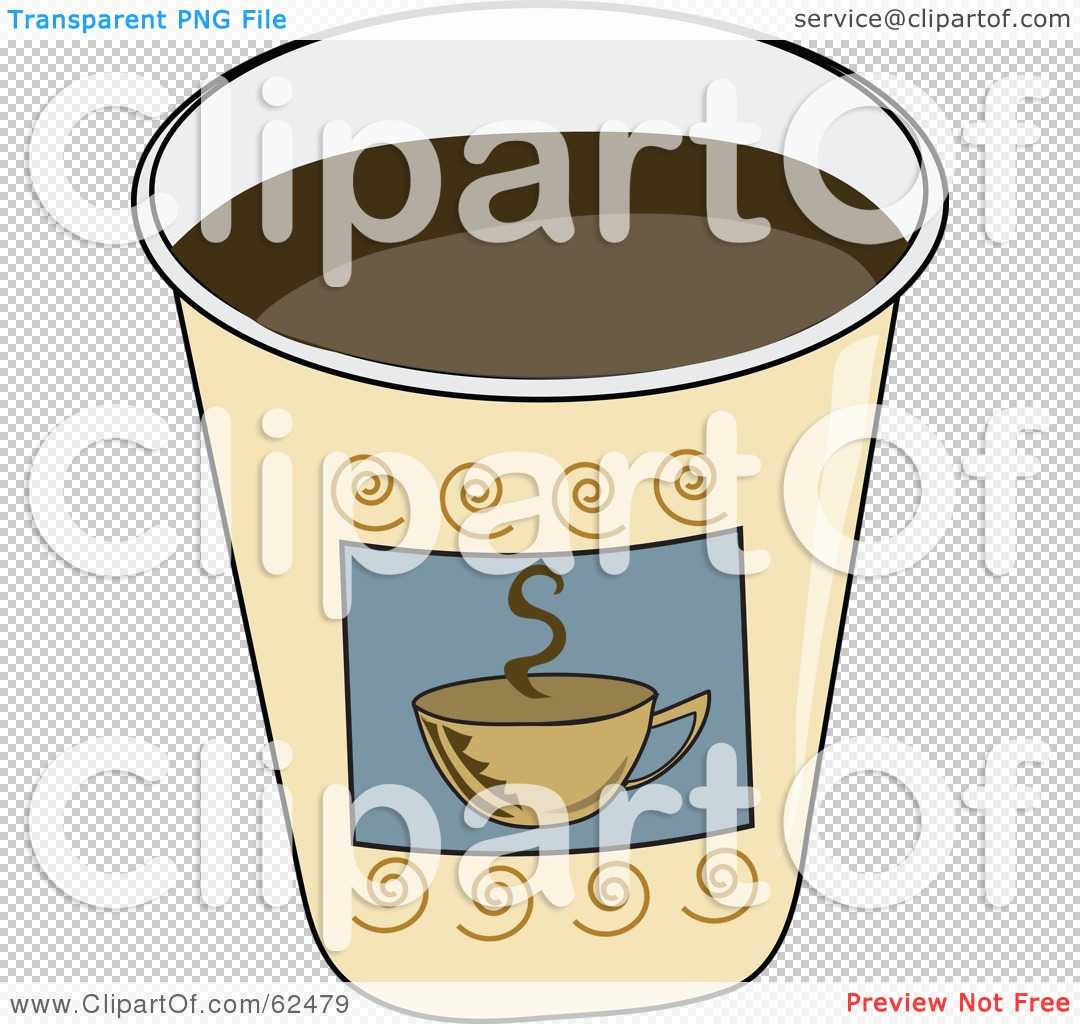 Royalty-Free (RF) Clipart Illustration of a Paper Coffee ...