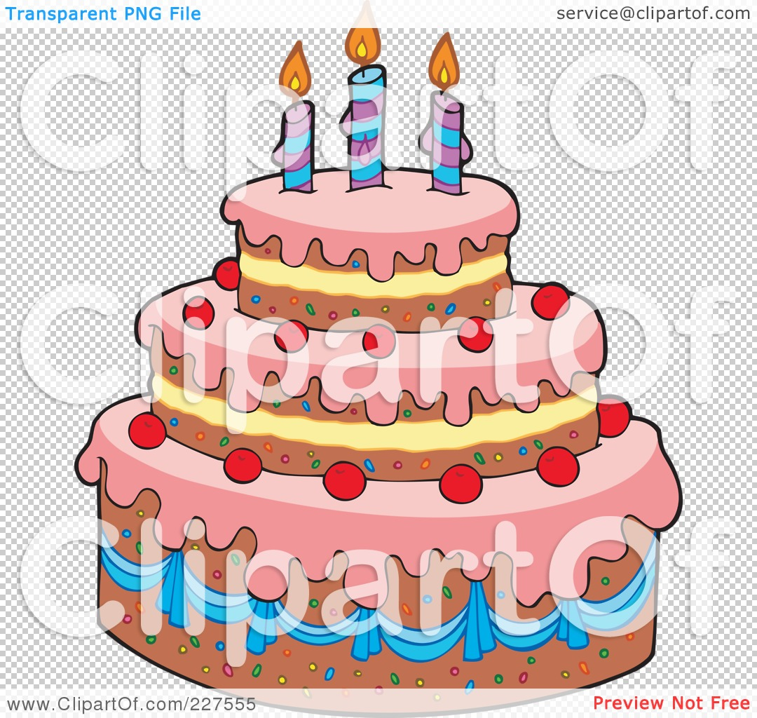 Royalty Free Rf Clipart Illustration Of A Pink Frosted