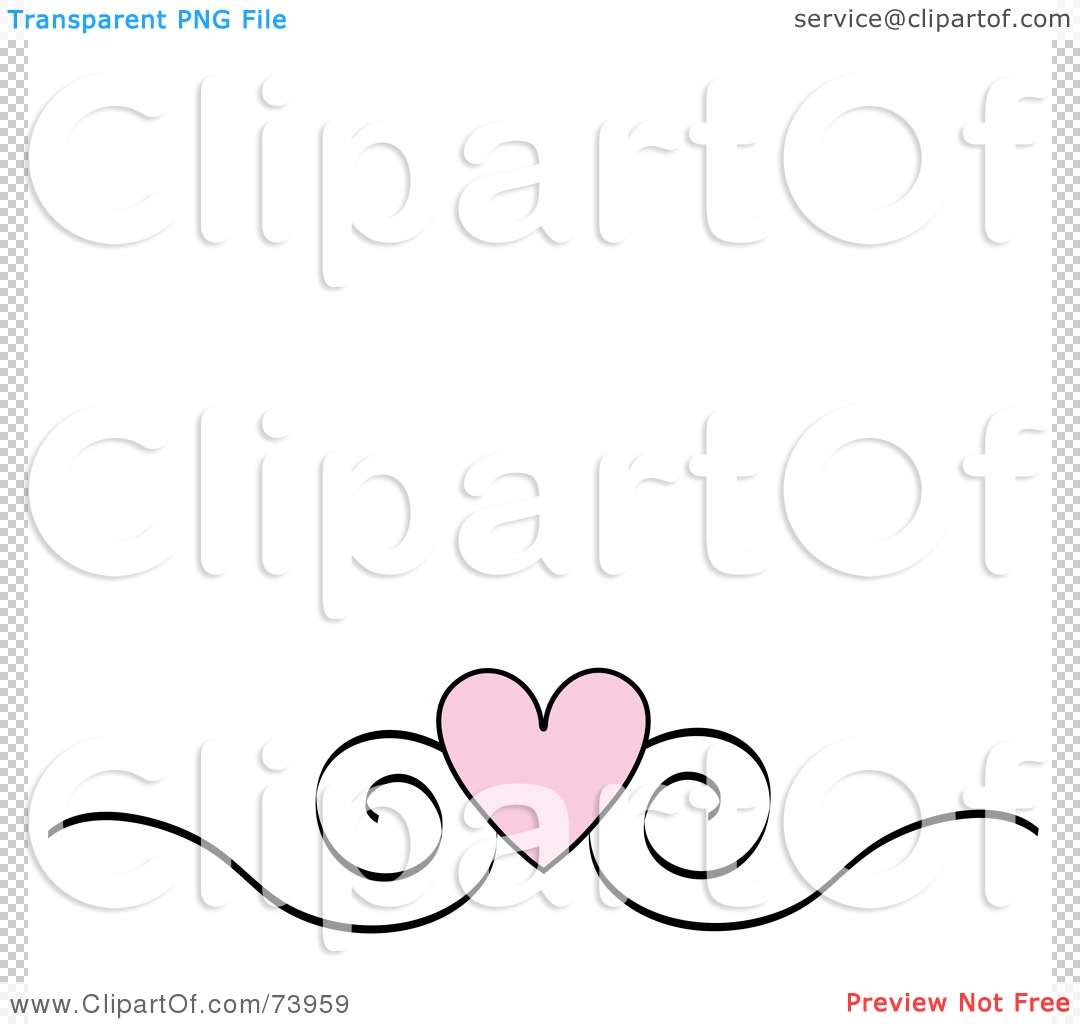 ... Scroll Design Border On A White Background by Pams Clipart #73959