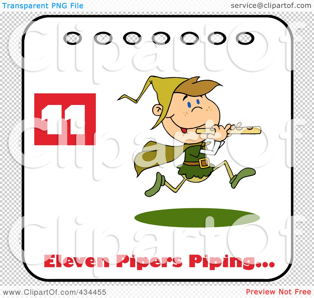 Royalty-Free (RF) Clipart Illustration of a Piper Piping On A ...