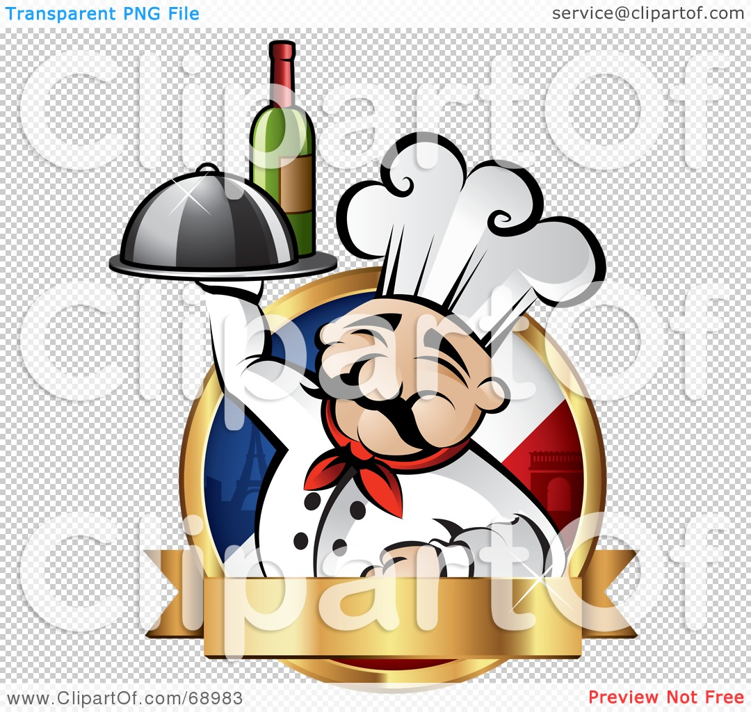 French Chef Drawing Png File Has a