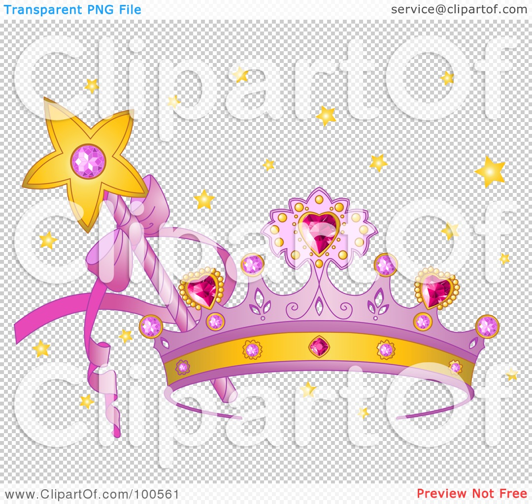 Royalty-Free (RF) Clipart Illustration of a Purple Princess Crown ...
