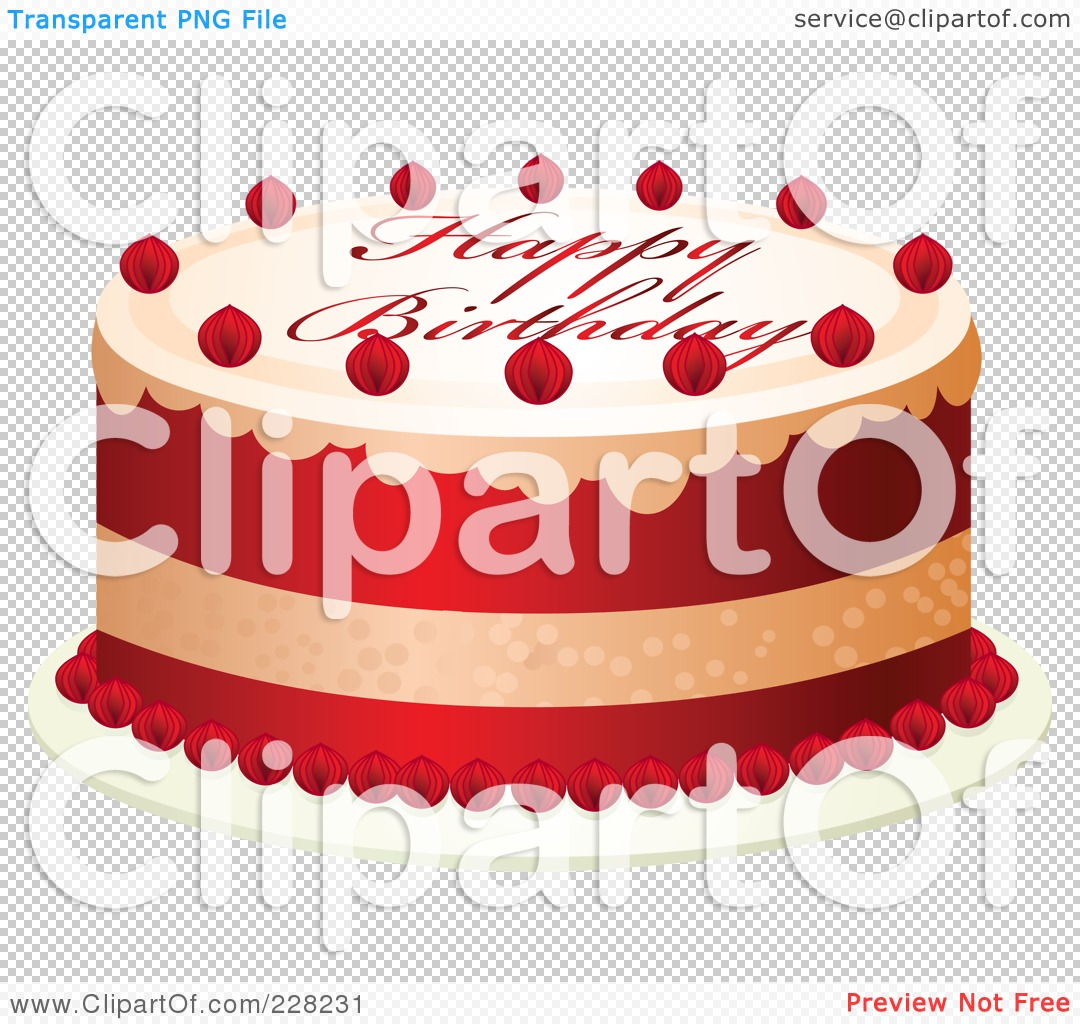 Royalty Free Rf Clipart Illustration Of A Red And White Cake With