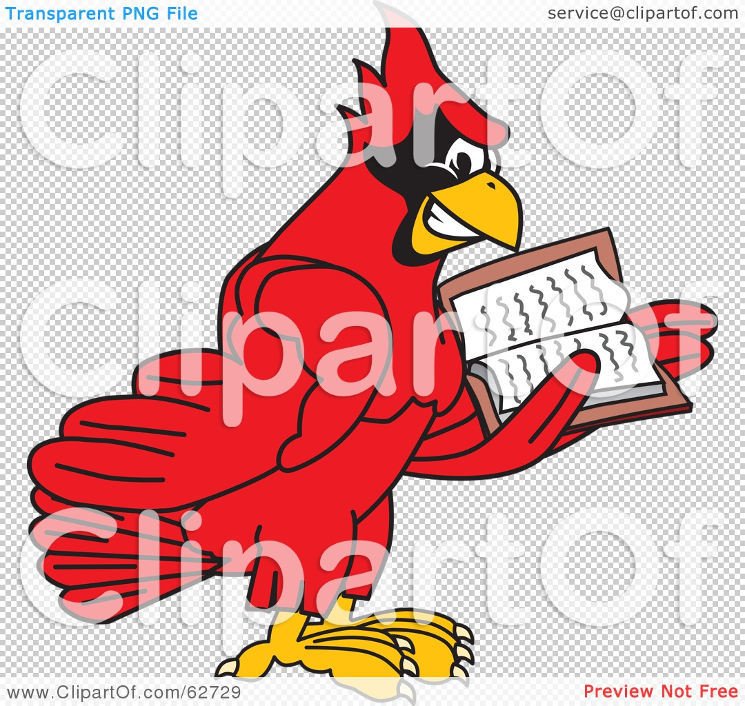Royalty-Free (RF) Clipart Illustration of a Red Cardinal Character ...