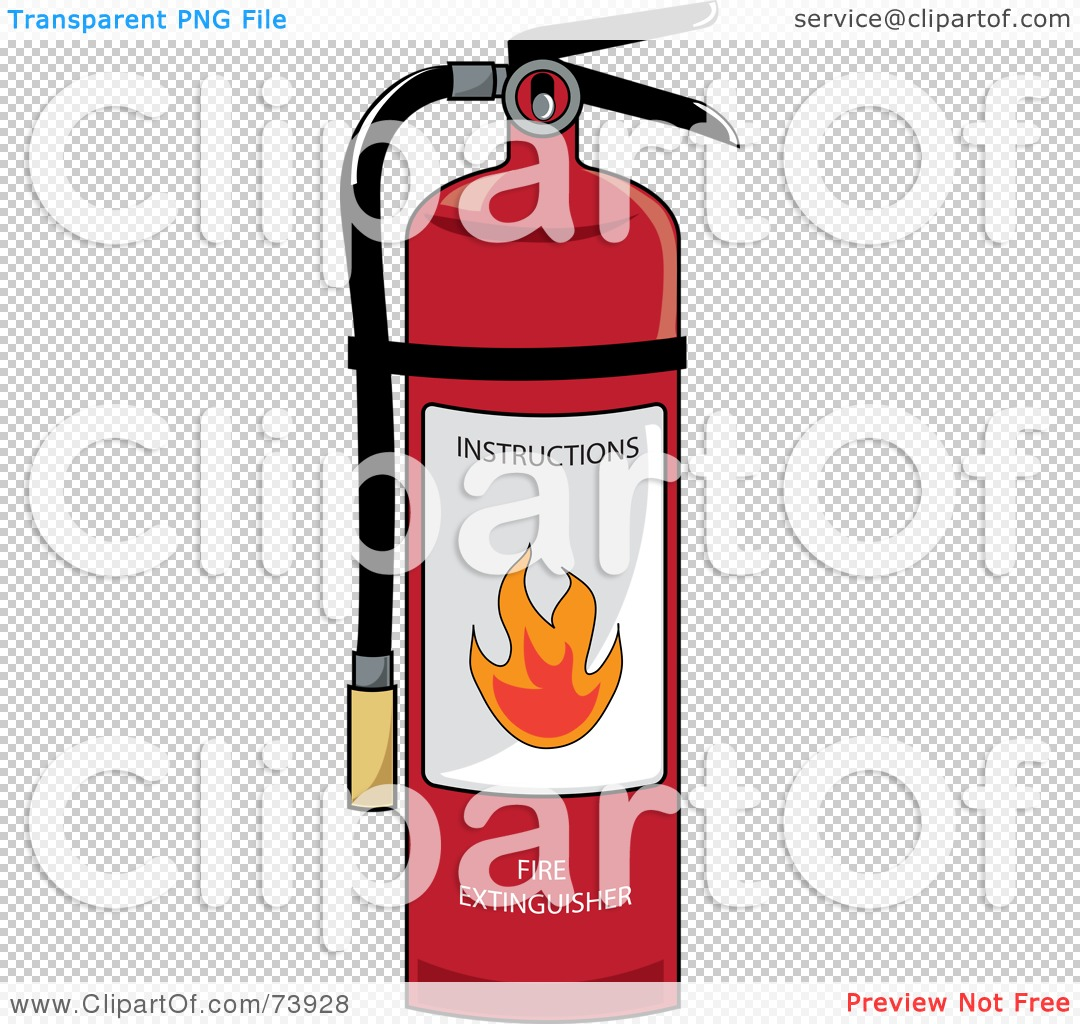 royalty free  rf  clipart illustration of a red fire fire extinguisher clipart transparent fire extinguisher clipart transparent