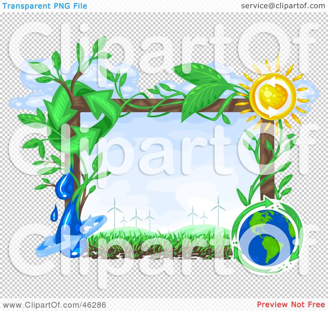 Renewable Energy Clipart A renewable energy scene