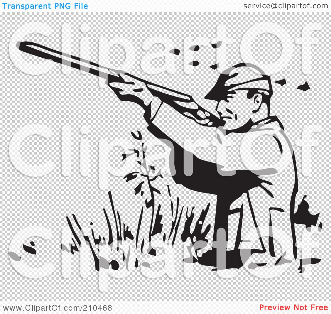 Royalty-Free (RF) Clipart Illustration of a Retro Black And White ...