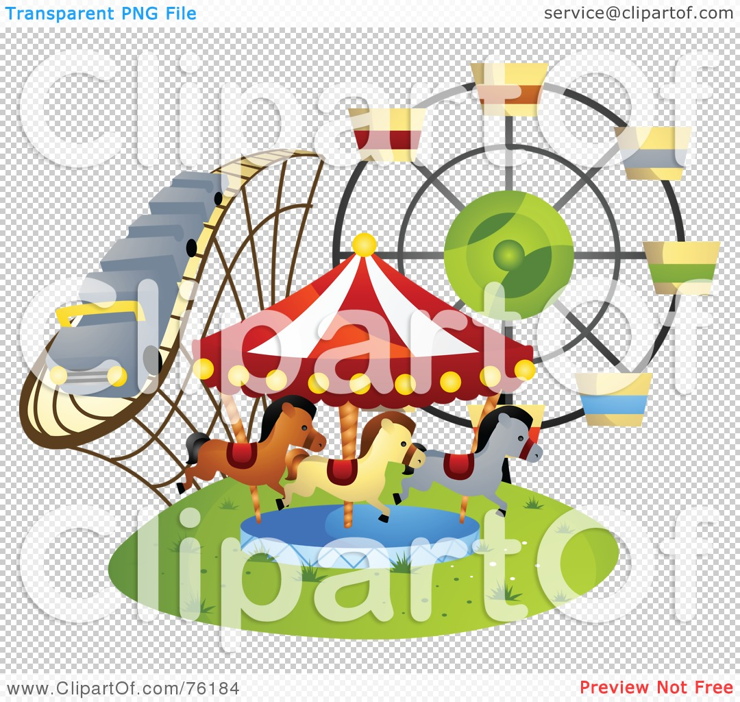 Royalty-Free (RF) Clipart Illustration of a Roller Coaster ...