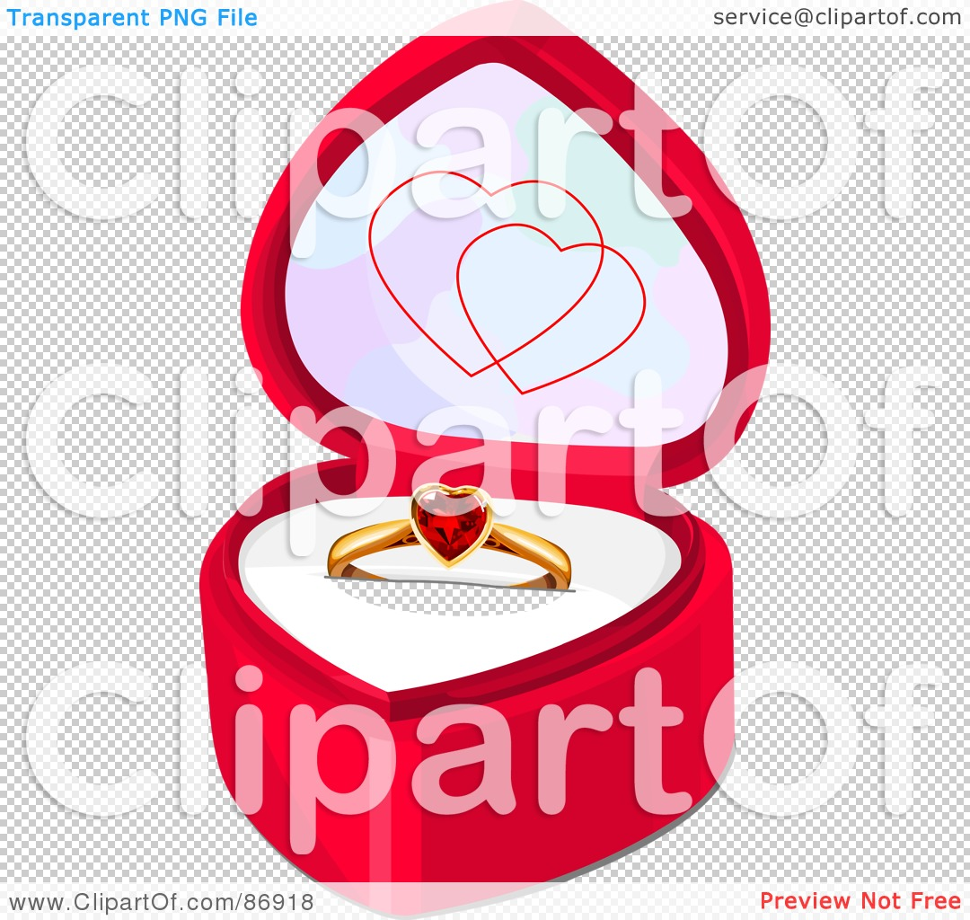 Royalty-Free (RF) Clipart Illustration of a Ruby Heart Engagement ...